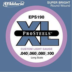 D'Addario ProSteels EPS190 Bass Strings, Custom Light Long Scale