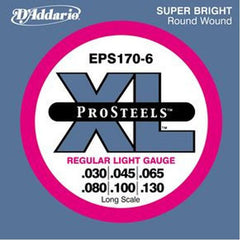 D'Addario ProSteels EPS170 Bass String, Regular Light, 6-String
