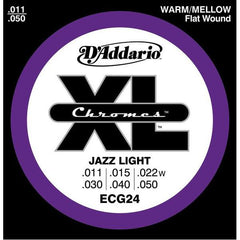 D'Addario XL Jazz Light Electric Guitar Strings ECG24 Flatwound