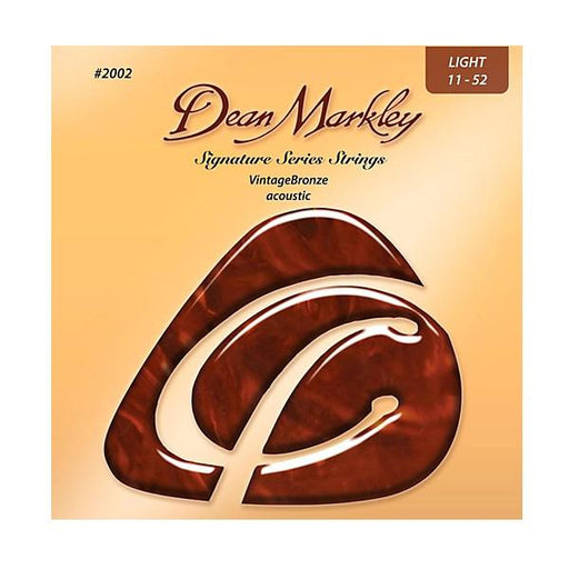 Dean Markley 2002 Acoustic Guitar Strings - Vintage Bronze, 11-52