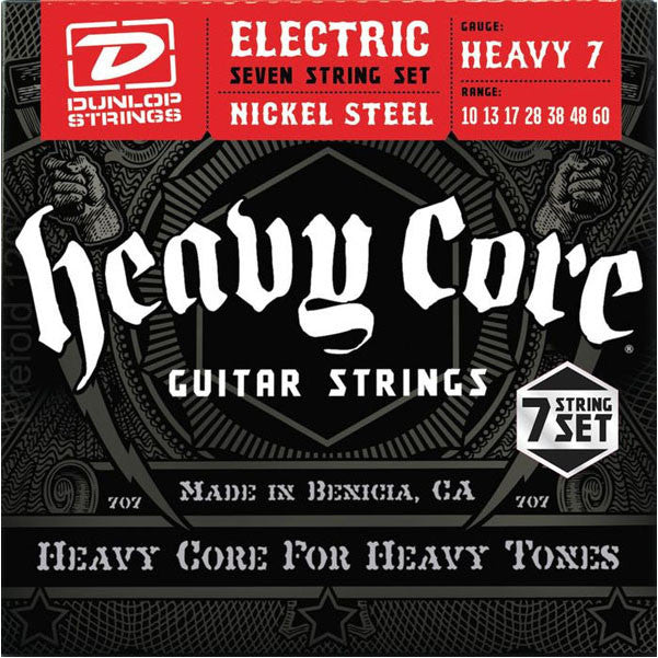 Dunlop Heavy Core 7-String Electric Guitar Strings - Heavy Gauge