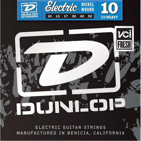 Dunlop Nickel Plated Steel Electric Guitar Strings - Light Top Heavy Bottom 10's