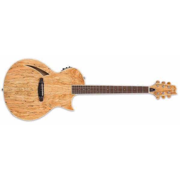 ESP LTD TL-6SM Thinline Acoustic-Electric Guitar (Spalted Maple Top)