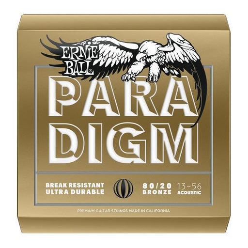 Ernie Ball 2084 Paradigm Medium 80/20 Bronze Acoustic Guitar Strings - 13-56