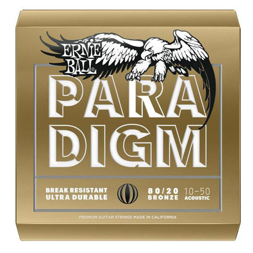 Ernie Ball 2090 Paradigm Ex Light 80/20 Bronze Acoustic Guitar Strings - 10-50