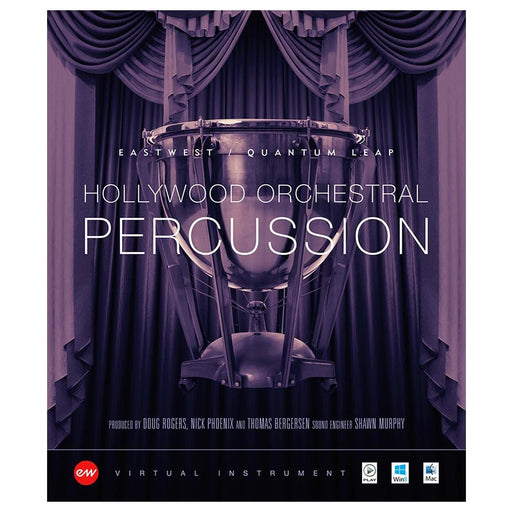 EastWest Hollywood Orchestral Percussion Virtual Instrument Downloadable Software & Plug-in - Silver