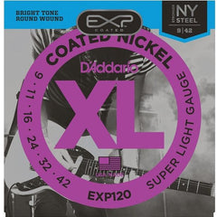 D'Addario EXP120 .009-.042 Ni Coated Electric Guitar Strings