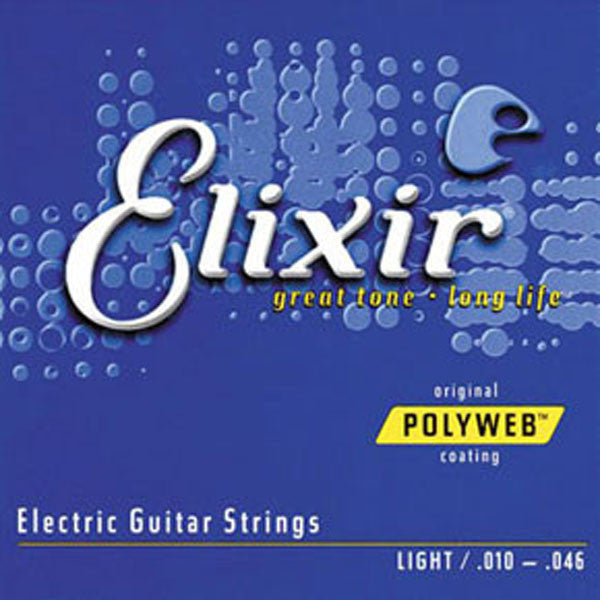 Elixir 12050 Polyweb Light 10 - 46 Electric Guitar Strings - Want It Now!
