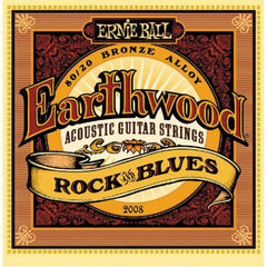 Ernie Ball 2008 Rock and Blues Earthwood Bronze Acoustic String, 80/20