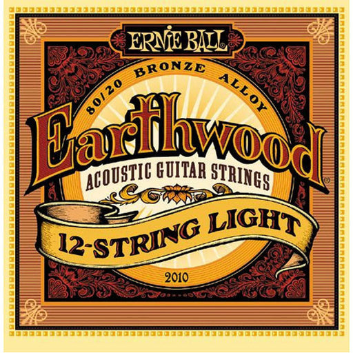 Ernie Ball 2010 Earthwood 80/20 Bronze 12-String Light Acoustic Guitar Strings