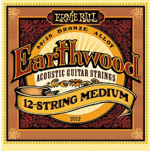 Ernie Ball 2012 Earthwood 80/20 Bronze 12-String Medium Acoustic Guitar Strings