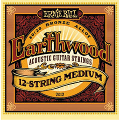 Ernie Ball 2012 Earthwood 80/20 Bronze 12 Acoustic Strings Medium