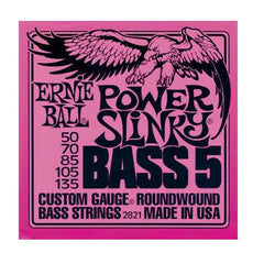Ernie Ball 2821 Power Slinky Bass Strings, 5-String