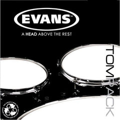 Evans EC2 SST Clear Tom Drum Head Pack ETP-EC2SCLR-S