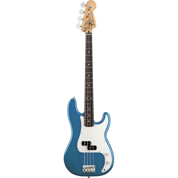 Fender Standard Precision Electric Bass Guitar, Rosewood Fretboard, 3-Ply Parchment Pickguard - Lake Placid Blue