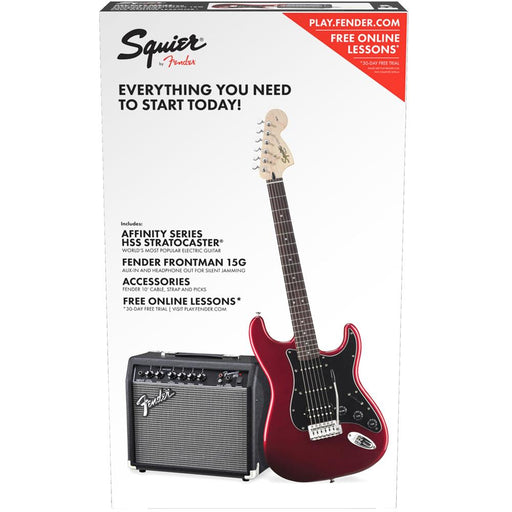 Fender Squier Affinity Series HSS Stratocaster Electric Guitar Pack with 15G Amplifier