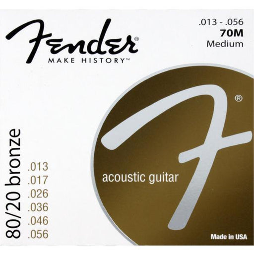Fender 70M 80/20 Bronze Acoustic Guitar Strings