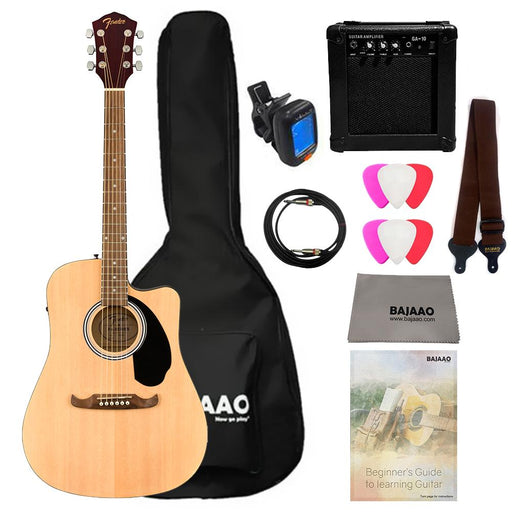 Fender FA-125CE Dreadnought Electro-Acoustic Guitar with Amplifier,Gigbag,Strap,Tuner,Cable,Polishing Cloth & Picks