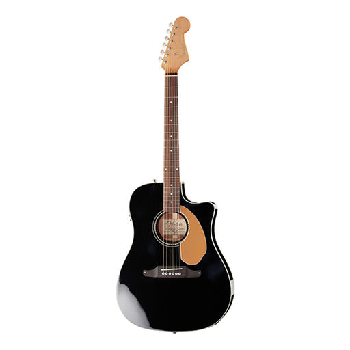 Fender Sonoran SCE Thinline Cutaway Electro Acoustic Guitar - High Gloss Black