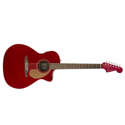 Fender Newporter Player 6 String Electro-Acoustic Guitar-Candy Apple