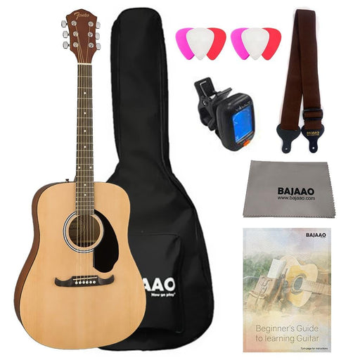 Fender FA-125 Dreadnought Acoustic Guitar Starter Pack With E-Book