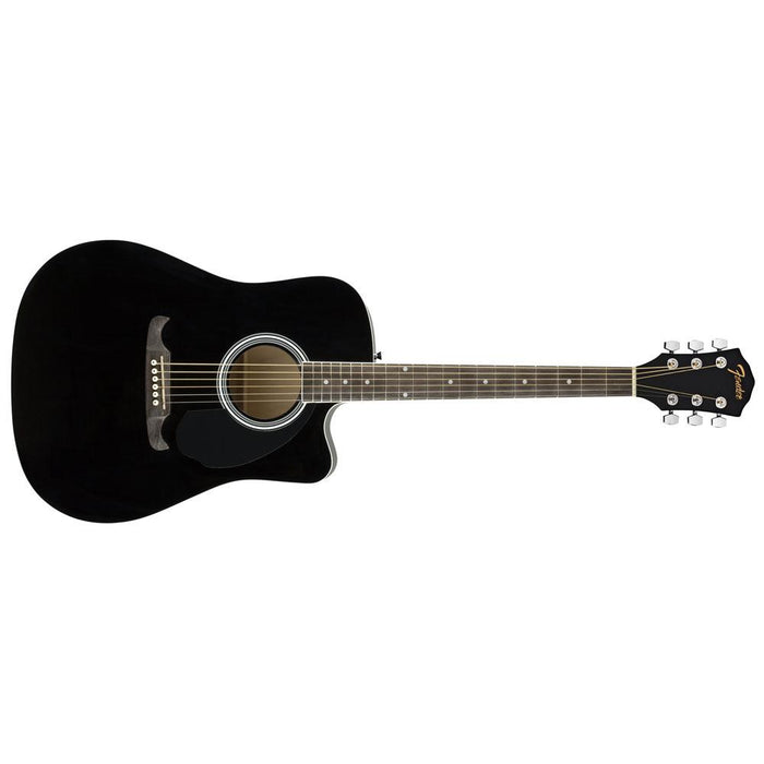 Fender FA-125CE Dreadnought Acoustic Guitar-Black