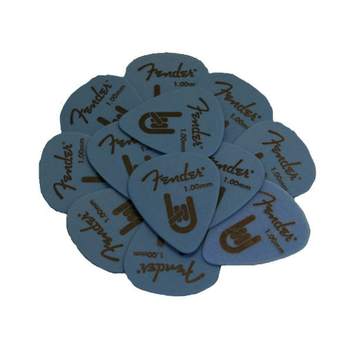 Fender 351 Rock On Delrin 1.0mm Heavy Picks - Blue - Set of 6