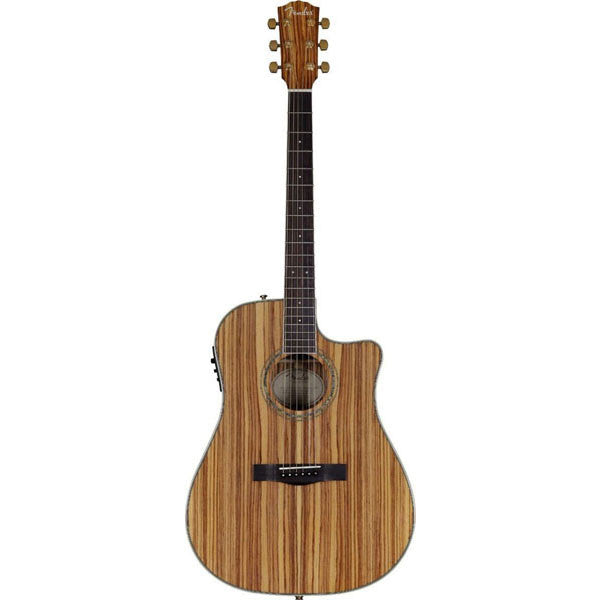 Fender CD-220CE All Zebrano Dreadnought Acoustic-Electric Guitar