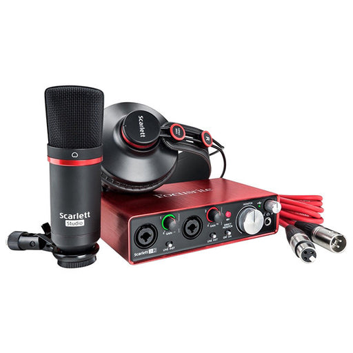 Focusrite Scarlett Studio Recording 2i2 Audio Interface Package With Pro Tools Lite - 2nd Gen