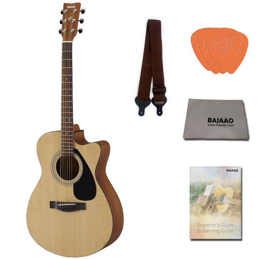 Yamaha FS80C The Ultimate Concert Body Cutaway Acoustic Guitar with Strap, Picks & Ebook