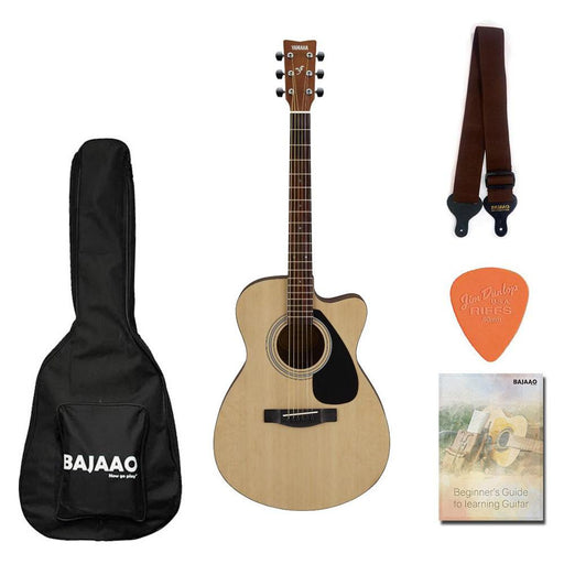 Yamaha FS80C The Ultimate Concert Body Cutaway Acoustic Guitar with Gigbag, Strap, Picks & Ebook