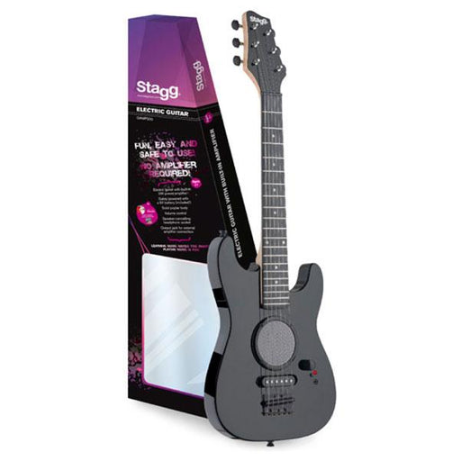 Stagg Junior Electric Guitar With Built In Amplification - Black