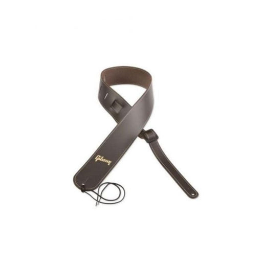 Gibson AEST-BRN Premium Leather Brown Troubadour Guitar Strap