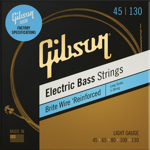 Gibson Brite Wire Long Scale Electric Bass Strings- Light Gauge- 5-String