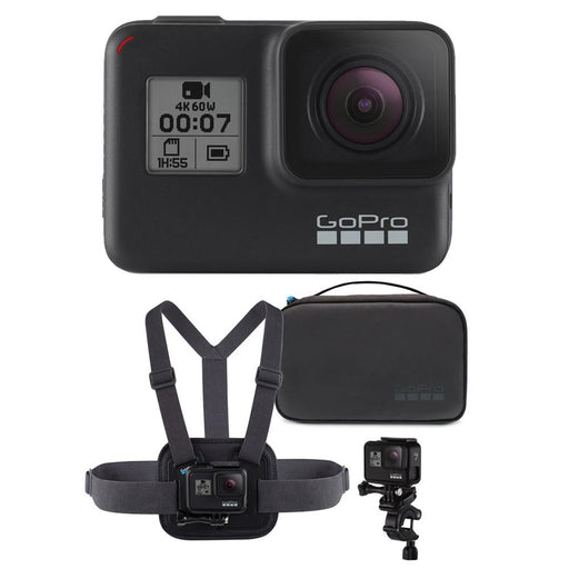 GoPro HERO7 Black 4K Action Camera with Sports Performance Combo Kit