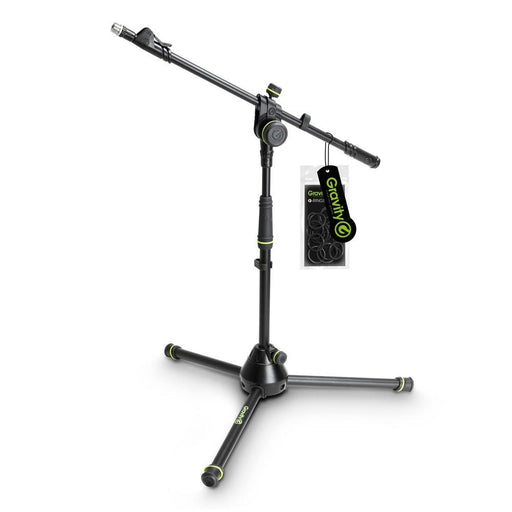 Gravity Short Microphone Stand with Folding Tripod Base and Adjustment Telescoping Boom