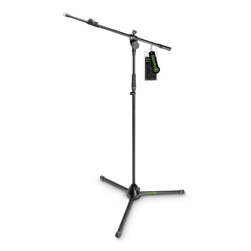 Gravity Microphone Stand with Folding Tripod Base and Adjustment Telescoping Boom