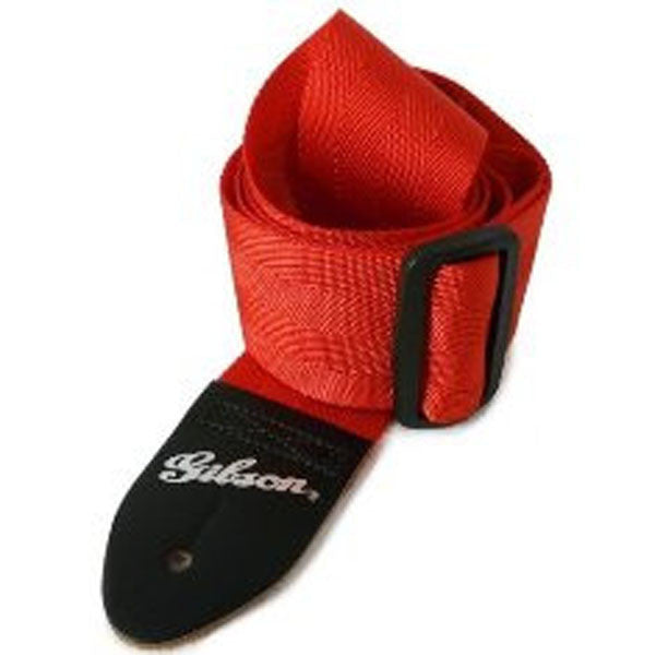 "Gibson ASGSB-20 2"" Regular Style Guitar Strap -Ferrari Red"