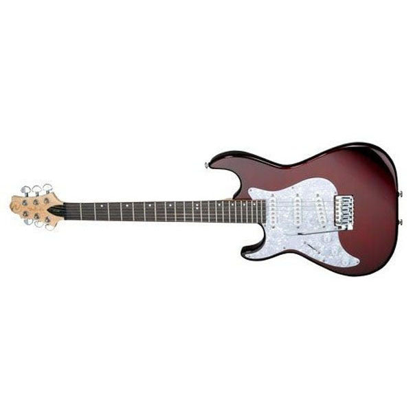 Greg Bennett Malibu MB-50 (H-S-S) Lefty Electric Guitar - Met Wine Red