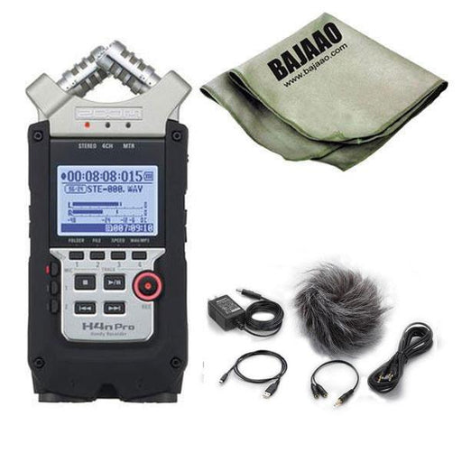 Zoom H4N PRO Handheld Recorder With Zoom APH-4N Pro Accessory Pack And Polishing Cloth