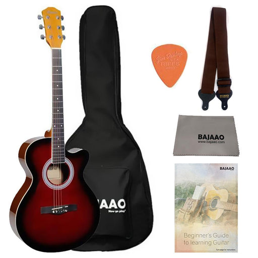 Havana FA391c 39 inch Cutaway Acoustic Guitar with Gigbag, Strap, Picks, Polishing Cloth & Ebook