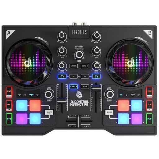 Hercules DJ Control Instinct P8 DJ Controller With Integrated USB Audio Interface - Open Box