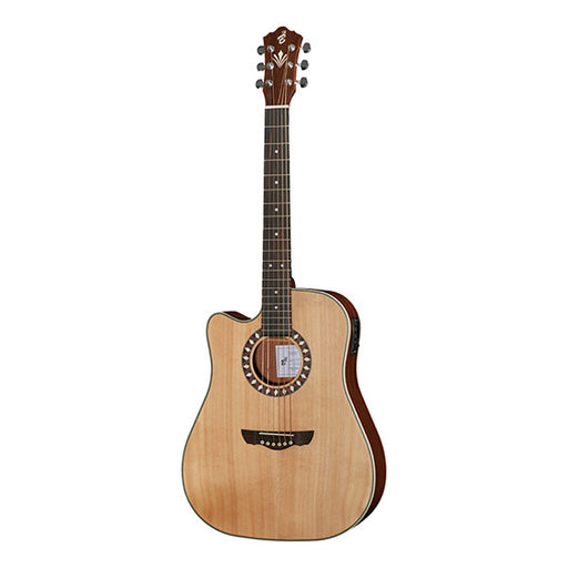 Harley Benton CLD-1048SCE LH Dreadnought Cutaway Electro Acoustic Guitar - Natural Matte