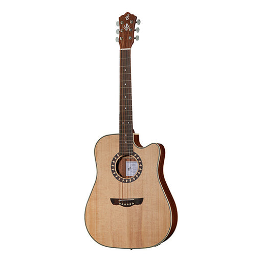 Harley Benton CLD-1048SCE Dreadnought Cutaway Electro Acoustic Guitar - Natural Satin