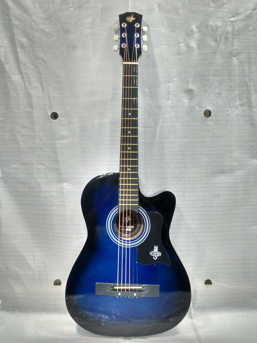 GC 38C Acoustic Guitar with Truss Rod and Bag - Blue Burst - Open Box B Stock