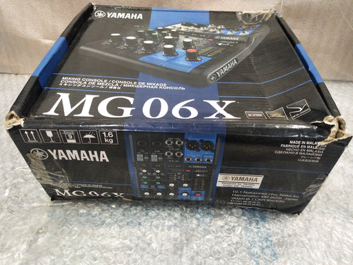 Yamaha MG-06X 6 Channel Analog Mixer - Open Box A Stock