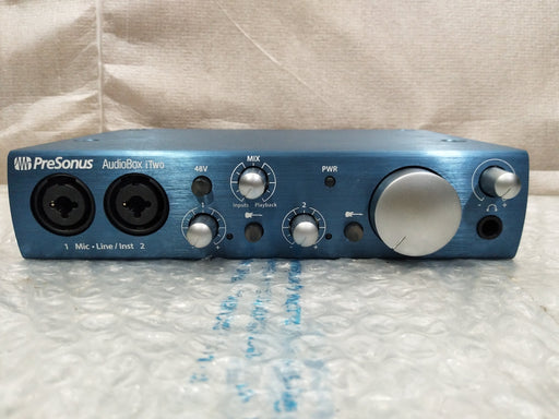 PreSonus AudioBox iTwo Studio Audio Interface Bundle - Open Box B Stock