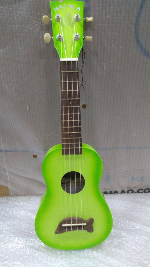Kala MK-SD Makala Soprano Ukulele - Green Apple Burst - Open Box B Stock