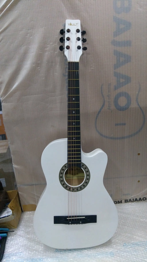 Vault 38C 38 inch Cutaway Acoustic Guitar Pack - White - Open Box B Stock