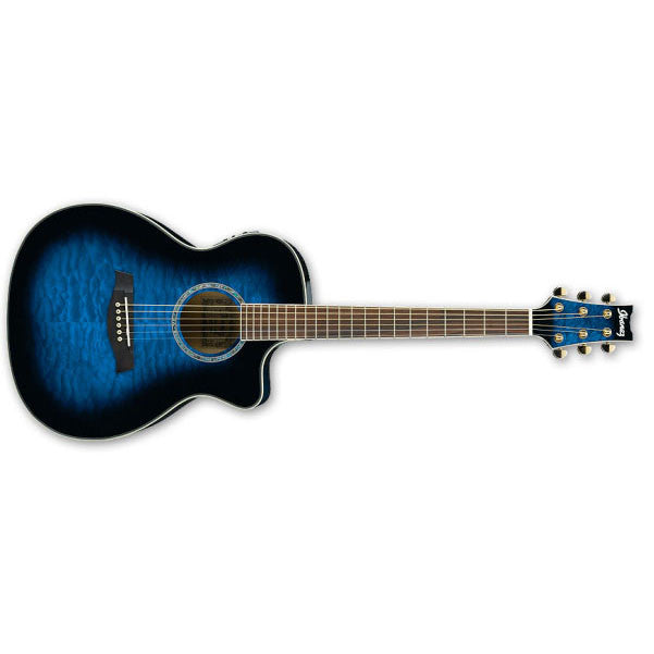 Ibanez A300E-TBS (Transparent Blue Sunburst) Ambiance Electro-Acoustic Guitar